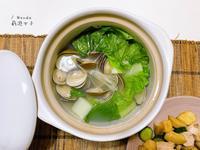 超簡單防疫料理-薑絲蛤蜊湯