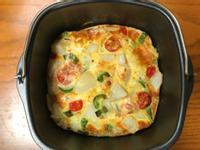 簡單番椒洋蔥馬鈴薯氣炸鍋烘蛋