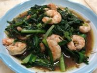 沙茶韭菜炒蝦仁