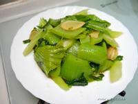 麻油炒芥菜