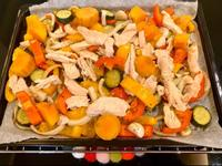 雞肉烤蔬菜(溫沙拉)