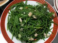蒜香枸杞炒水蓮-小文