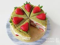 抹茶草莓千層蛋糕