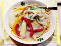 同場加映:蔬食白醬義大利麵