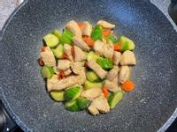 配色家常料理之黃瓜炒雞丁