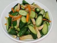 小黃瓜炒杏鮑菇