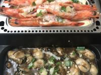 蒜泥豆腐蒸蝦、醬燒鮮蚵