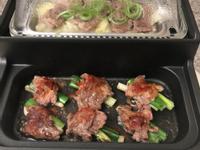 清蒸高麗菜牛肉片、燒烤牛肉捲