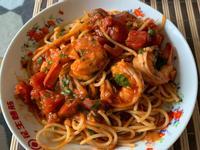 濃厚鮮蝦番茄義大利麵