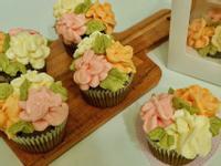小盆栽抹茶杯子蛋糕|母親節蛋糕