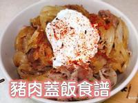豬肉蓋飯(含水波蛋做法)