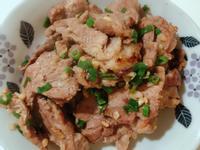 蒜頭炒梅花豬肉