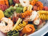 鮮蝦義麵溫沙拉