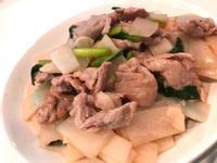 清炒蘿蔔肉片