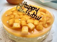 芒果生乳酪布丁蛋糕