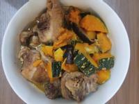 南瓜香菇燒雞