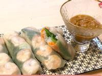 越南蝦鮮春卷配花生蘸醬