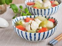 大黃瓜海鮮丸湯