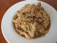 金針菇炒肉絲