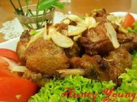 蒜片蜜汁雞