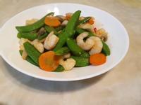 8分鐘上菜~甜豆炒蝦仁