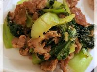 青菜炒肉片 (露營OK)