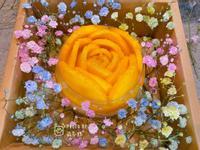 芒果玫瑰花奶酪-美到讓人心花怒放