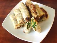 炸韮菜牡蠣米紙卷
