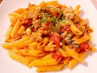 茄子番茄肉醬筆管麵