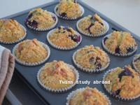 藍莓酥頂馬芬