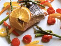 🍊紙包橙香彩蔬鹽烤鮭魚