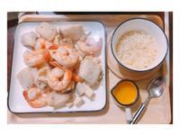 氣炸鍋-杏包菇香檸蝦+鯛魚