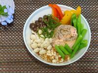 五色鮮蔬鮭魚燕麥釜飯