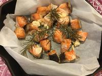 香料烤鮭魚