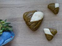 艾草豆沙包(創意粽子造型)