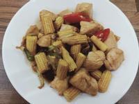 醬炒玉米筍雞肉丁