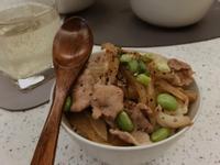 減脂版 日式毛豆丼飯