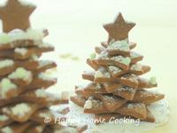 巧克力曲奇聖誕樹 ~ 舖滿雪花的聖誕樹,帶給你快樂!