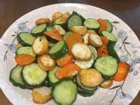 小黃瓜炒素丸子