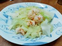 鮮蝦炒高麗菜