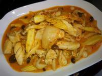全聯懶人料理-泡菜菇菇雞