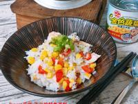 玉米粒鮭魚蒸飯