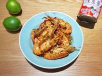 紅蔥醬爆檸檬泰國蝦及拌麵