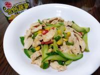 小黃瓜玉米炒雞片