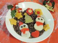 聖誕雪人湯圓紅豆湯