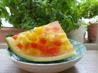 西瓜水果凍,簡單消暑的夏日甜點