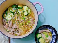 麻油鰹魚膘櫛瓜麵線