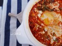 韓國美食 超簡易《韓式嫩豆腐鍋 》食譜