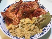 椒鹽蛋花酒燒蝦