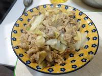 味噌豬里肌炒高麗菜